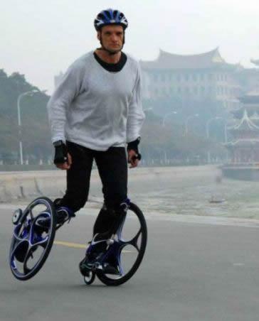 据说这是最新式的轮滑
